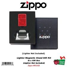 Zippo Lighter Magnetic Stand Display Base Gift Kit #MGSGK