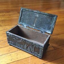 Vintage - Iron Arts Copenhagen Denmark - Bronze Casket Box - 1219 Crusades