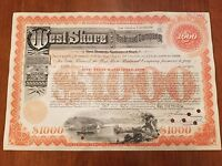 West Shore Railroad Company Bond Stock Certificate New York Central