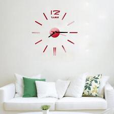 Modern Mini 3D Sticker DIY Wall Clock Design Home/Office/Room Decor HOT