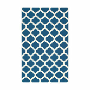 Surya FT84 Frontier 132 X 96 inch Blue Neutral Handmade Area Rug Wool 8' x 11'