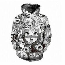 Ahegao Gesicht Hoodie Hentai Manga Herren Sweatshirt Anime 3D gedruckt Pullover!