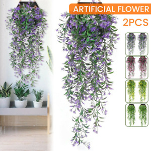 2X Artificial Ivy Flower Vine Garland Hanging Home Garden Trailing Basket Plant