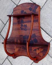 GAUTHIER Antique ART NOUVEAU Inlaid Wood MARQUETRY Wall Shelf DROUOT Emile Galle