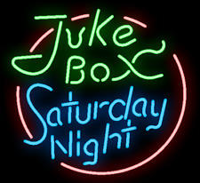 "New Juke Box Saturday Night Neon Sign 24""x20"""