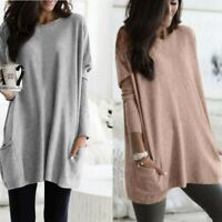 Women Loose Top 5XL Jumper Baggy Long Sleeve Plus Size Tunic Pullover Casual