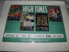 High Times Prepaid Phone Card Collectors Series