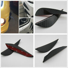4 Pcs ABS Carbon Fiber Style Car Body Front Bumper Fins Lip Kit Canards Splitter