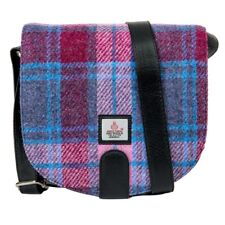 Maccessori Harris Tweed Pastel Pink Check Cross Body Bag New w/ Tags