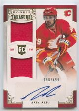 12/13 PANINI ROOKIE ANTHOLOGY RC JERSEY AUTO #108 AKIM ALIU 158/499 FLAMES 51578