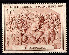 Timbre neuf de 1969 Yt 1586 Bas relief de la Cathedrale d AMIENS