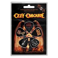 More details for official licensed - ozzy osbourne - classic logo 5 guitar plectrum / picks pack
