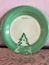 """Wendover Lane Christmas Plate 8"""" CHEER Christmas Plate Cookie Snack Time Plate"""