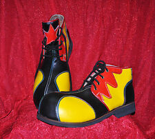 ZYKO Professional Real Leather Clown Shoes 3-color model (ZH019)Red/Yellow/black