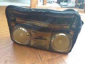 Vtg FYDELITY sports bag boombox peakers stereo radio camping festival street hip