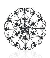 """17"""" Metal Round Wall Decor Medallion Iron Home Decor Antique Finish Wall Gril"""