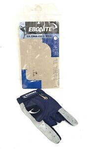 Ebonite Ultra Gripper Bowling Glove Blue/Gray Left Hand Size XL M15-37