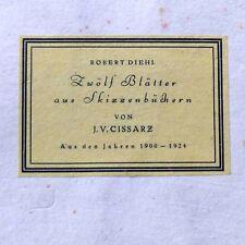 Cissarz Zwölf Blätter aus Skizzenbüchern 1900 bis 1924 Nr. 124 Erotik