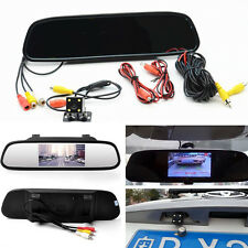 LCD Car Rear View Mirror Monitor LED Night Vision Reverse Backup Camera For Benz