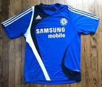 Adidas Chelsea Mens Short Sleeve Soccer Futbol Jersey Size Large