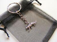 Tiger Keyring - Tibetan Silver Charm Keyring & Gift Bag