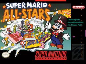 NEW Official Super Mario All Stars Canvas Art Print 40 x 30 cm Nintendo / SNES