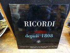 ricordi depuis 1808 - disques ricordi An I ( 1959 ) - premier catalogue sonore