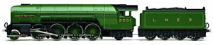 Hornby '00' Gauge R3171 RailRoad LNER 2-8-2 'Cock O' The North' P2 Class