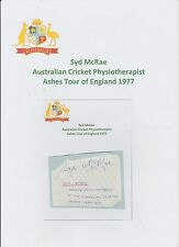 SYD McRAE AUSTRALIAN CRICKETER PHYSIOTHERAPIST 1977 ASHES ORIGINAL HAND SIGNED