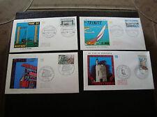 FRANCE - 4 enveloppes 1er jour 1968 1969 (2eme choix) (cy17) french