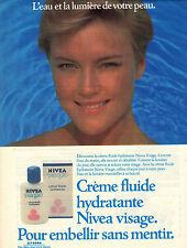 PUBLICITE ADVERTISING  1984  VICHY  cosmétiques  creme fluide visage