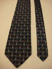 VAN HEUSEN Men's Silk Neck Tie - Blue and Purple Geometric Print