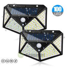 Solar Lights 100 LED Motion Sensor 3 Modes Waterproof Wall Lamp Path Security