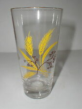CENTURY ALLIANCE AUTUMN GOLD WHEAT GLASS S TUMBLER 16 OZ RARE 6 3/4""