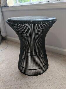 Knoll Warren Platner Steel Rod Black Marble Side Table