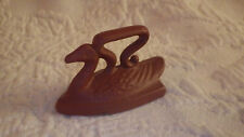 "Miniature Clothes Iron Swan Bird Cast Iron Miniatures 2"" Long"