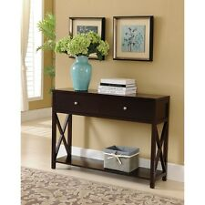 Kings Brand Dary Cherry Finish Wood Entryway Console Sofa Occasional Table