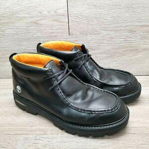 Timberland Men's Moc Toe Chukka Ankle Boot Black Leather 2 Eye 62064 Size 13 M