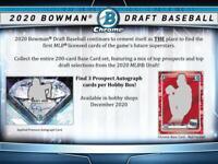 2020 Bowman Draft Baseball Hobby Jumbo Box (12 Packs/32 Cards: 3 Autos)