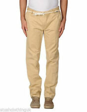 Pantaloni da uomo beige regolare slim