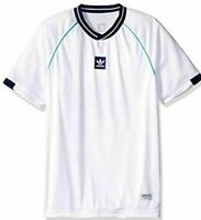 Adidas Athleisure No.3 Jersey Men's Skateboarding T-Shirt White Pinstriped