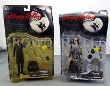 McFarlane Toys Sleepy Hollow ICHABOD CRANE (Johnny Deep) & The CRONE Figures NIP