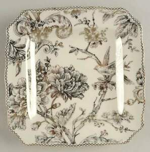 222 Fifth Adelaide Electroplate Gold  Square Salad Plate 11191941