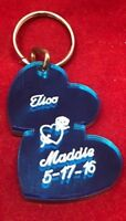 Double Heart Key Chain Custom Names Free Engraved Any Names Keychain Key Ring