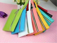 Fashion Lady Women Card Coin Purse PU  Wallet Soft Holder Zip Clutch Bag