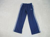 VINTAGE Adidas Track Pants Adult Large Blue Stripes Track Pants Mens 90s B59*