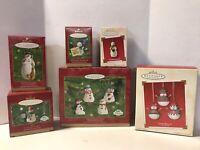 Hallmark Christmas Keepsake Ornaments Lot Of 6 Mitford Snowman Snow Bells 2000's