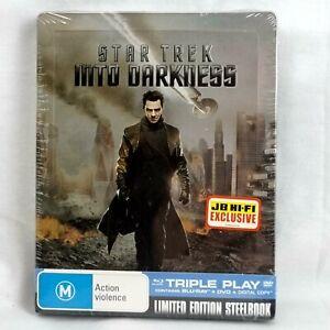 STAR TREK Into Darkness STEELBOOK NEW Sealed Ltd Ed Bluray+DVD JB Hifi Exclusive
