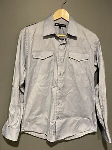 Jonathan Adams Mens Shirt Blue Size Small