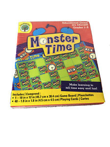 Teaching Tree MONSTER TIME Educational Game Learn to Tell Time Grades 1-2 New